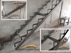 Stair Construction Instructions from Architects - Architecture & Design Railing Design, Stair Railing, Staircase Design, Building Stairs, Building A House, Escalier Design, Steel Stairs, Stair Detail, Outdoor Stairs