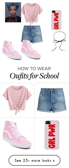 """my middle school style"" by unicorntori1 on Polyvore featuring Raey and Vans"