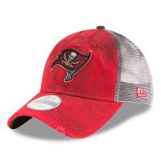 a145b8b73c2 New Era Tampa Bay Buccaneers Red White Team Rustic 9TWENTY Adjustable Hat