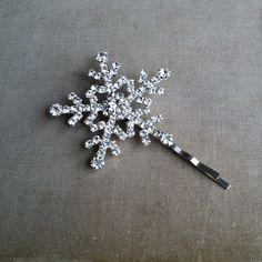 Winter hair accessories, Winter Wedding hair accessories, snowflake wedding, winter hairpin hairclip christmas rhinestone on Etsy, $22.00