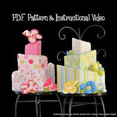 Square Topsy Turvy Diaper Cake Pattern and Instructional Video