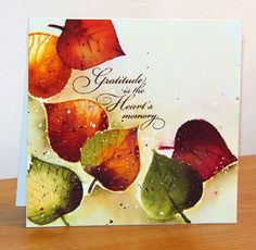 foliage fancy et season's gifts de Penny Black fall leaves Penny Black Cards, Penny Black Stamps, Fall Cards, Holiday Cards, Christmas Cards, Leaf Cards, Paint Cards, Watercolor Cards, Watercolor Leaves