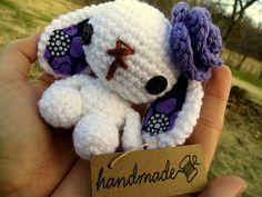 Lulu the Amigurumi Bunny - Purple by WyandotteWears on Etsy, $16.50