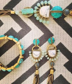 Le turquoise à l'honneur retrouvez la collection totem de 39€ à 79€ sur mon site http://www.stelladot.fr/PeggyRichard
