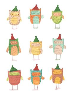 Christmas Cards II by Monika Filipina Trzpil, via Behance