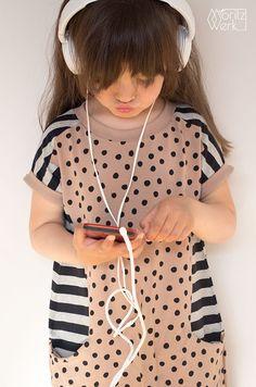 Nore Dress by Compagnie M.   Nosh fabrics   jersey dress sewing pattern for girls   Moritzwerk