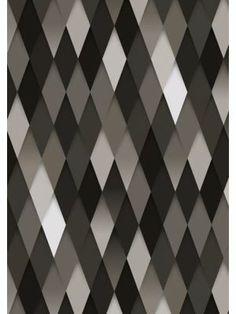 KEK Amsterdam Behang 015 - grafisch ruit #graphic #wall #kekamsterdam #black #white #myhomeshopping