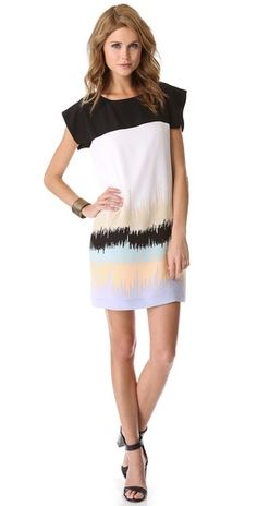 Tibi Analog Print Easy Dress