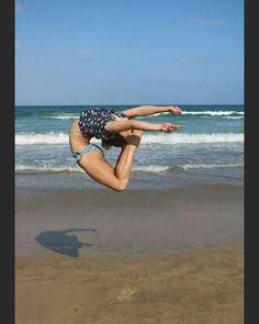 Gymnastics Flexibility Summer  Ocean Bikini Sheep jump