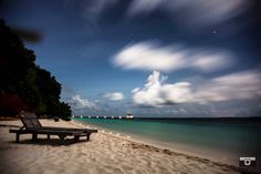 A long exposure shot with moving clouds and nothin more than the waves of the Indian Ocean. #share #maldives #travel #longexposure #followforfollow #nightskies #indianocean #beachlife #beach #beachholidays