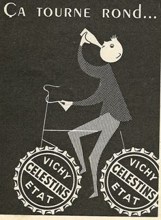 Vichy poster #bike (This is not my own image)