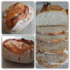Kovászos kenyér éjjeli hűtős kelesztéssel | Betty hobbi konyhája Food And Drink, Bread