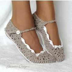 Crochet shoes for the wedding reception? I think my mom can make these!