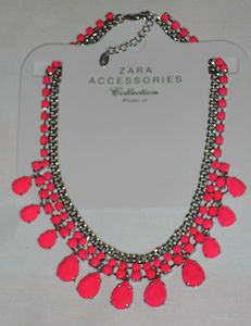 ZARA necklace NEON choker collar PINK fluor...mine!