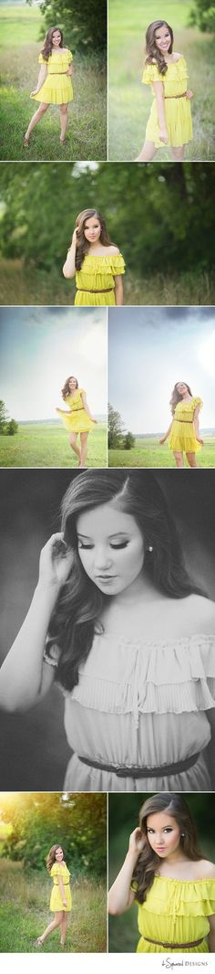 d-Squared Designs St. Louis, MO Senior Photography. Senior girl photography. St. Louis Senior photographer. Missouri senior photographer. Senior poses. Beautiful senior girl. Senior session. Senior girl inspiration. Miss Teen Missouri. Yellow sundress. Countryside.
