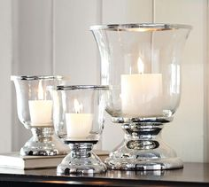 Silver-Plated Hurricane | Pottery Barn