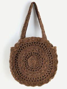 Next Post Previous Post Shop Crochet Scalloped Round Beach Bag online. SheIn offers Crochet Scalloped Round Beach Bag & more. Beach Crochet, Crochet Tote, Crochet Handbags, Crochet Purses, Crochet Motifs, Crochet Blanket Patterns, Knitted Bags, Online Bags, Evening Bags