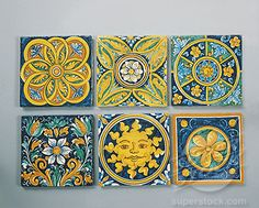 Caltagirone decorative ceramic tiles.