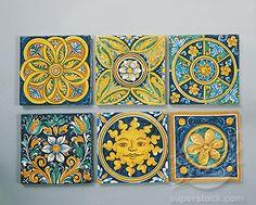 Caltagirone decorative ceramic tiles.