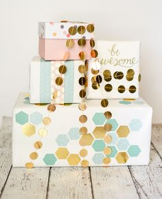 How to Make a Gift Box out of Cardstock & More gift wrapping ideas!