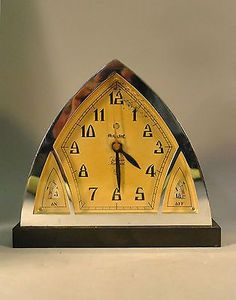 Art Deco Chrome Cathedral Top Clock