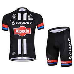 UONO Mens Short Sleeves Team Cycling Jersey Jacket Bicycle Bike Shirt  Cycling Padded Shorts Set   87fb0184b