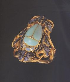 Rene Lalique beetle ring.