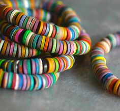Reef color beaded bracelet by jibbyandjuna on Etsy, $25.00