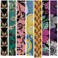 Bead loom patterns-- pink bracelet design