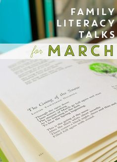 Family Literacy Talks for March