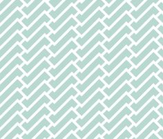 fretwork in mint fabric by domesticate on Spoonflower - custom fabric