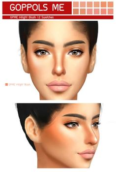 GPME Hilight Blush for The Sims 4