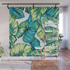 Wall Murals, Wall Art, Vibrant Colors, Colorful, Viera, Tropical Leaves, Fabric Panels, Mild Soap, Banana