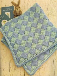 Finely Woven Baby Blanket Come learn the mystery behind Entrelac and make this beautiful blanket that will be cherished for a lifetime!   Dates and Times:  Monday,  9/23, 6-8:30pm Entrelac Basics Monday,  9/30, 6-8pm More Basics Cost: For these two classes $40 plus materials   Monday, 10/14,  6-7:30 Crochet Edge Cost: $20 for finishing class   Pattern is in Cascade's 60 Quick Baby Blanket Book    ***Homework before 1st Class: Cast on so we can start right away!***