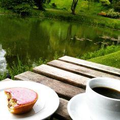 Lunds Botaniska Trädgård , med cafe , her hallonmazarin