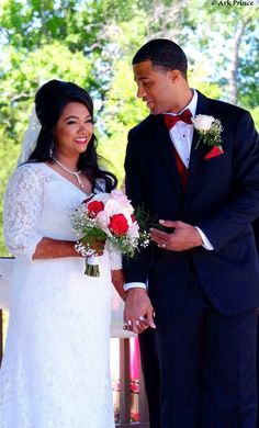 Samiya & Ja'cory, white gown wedding ceremony. Anna, TX