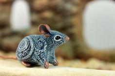 Rat Mouse Totem figurine Animal art sculpture by DemiurgusDreams, $22.00