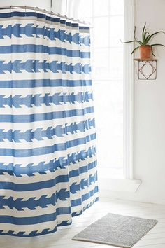 4040 Locust Washed Arrows Shower Curtain - Urban Outfitters