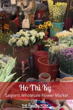 You don't want to miss this amazing wholesale flower market when you visit Saigon, Vietnam. If you want to immerse yourself in the of go to the market! Asian Street Food, Asia Travel, Wanderlust Travel, Travel Tips, Saigon Vietnam, Asian Market, Flower Market, Best Vacations, The Fresh