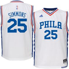 Ben Simmons Philadelphia 76ers adidas Youth Replica Jersey - White -  49.99 c87691d0a