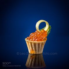 Red Caviar on Blue by info6020