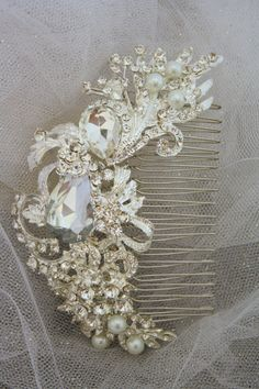 Reserved for Alexandra Only  Bridal Hair Comb Wedding Hair Accessories Bridal Comb-Crystal Wedding Comb-Bridal Headpiece on Etsy, $49.50