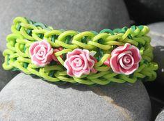 Rainbow loom Rubberband Friendship Bracelet Pink by JJJCrafts, $5.50