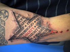 3D Star tattoo - 60 Amazing 3D Tattoo Designs <3 <3