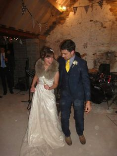 A bespoke bridal fur collar *sheepskin* for a stylish West Country bride. Dress by Phase Eight