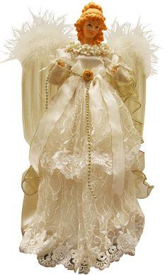 Cream:  Angel Tree-Topper.
