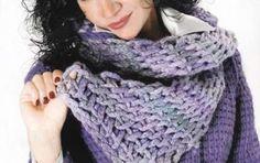 Sciarpa a uncinetto: schemi e modelli - Schemi uncinetto sciarpa facile