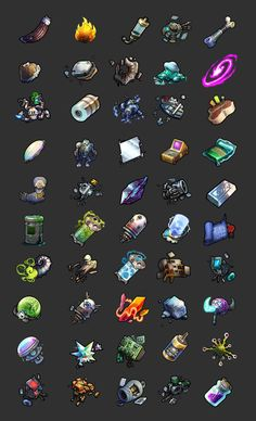 Material icons for PlunderNauts, Daniel Beaulieu on ArtStation at http://www.artstation.com/artwork/material-icons-for-plundernauts