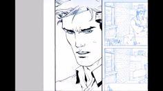 Digital Inks over Giuseppe Camuncoli's Spider Man page