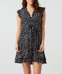 Take a look at this Blue Heart Ruffle Dress by Izabel on #zulily today!